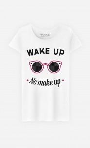T-Shirt Femme Wake Up No Make Up