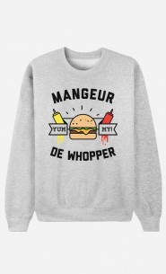 Sweat Homme Mangeur de Whopper