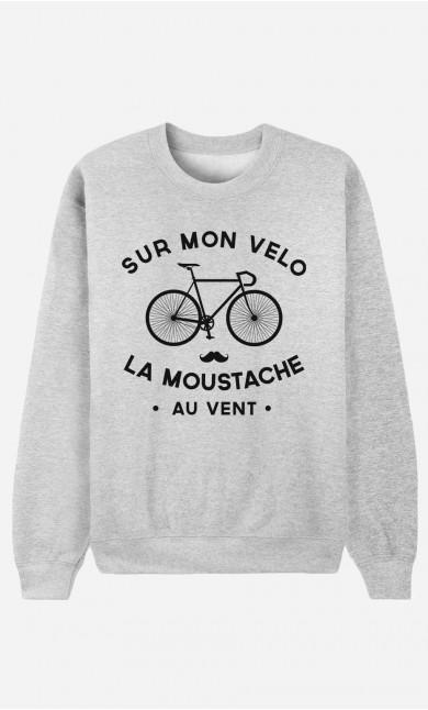 Sweat Homme La Moustache Au Vent