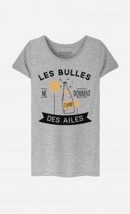 T-Shirt Femme Les Bulles Me Donnent Des Ailes