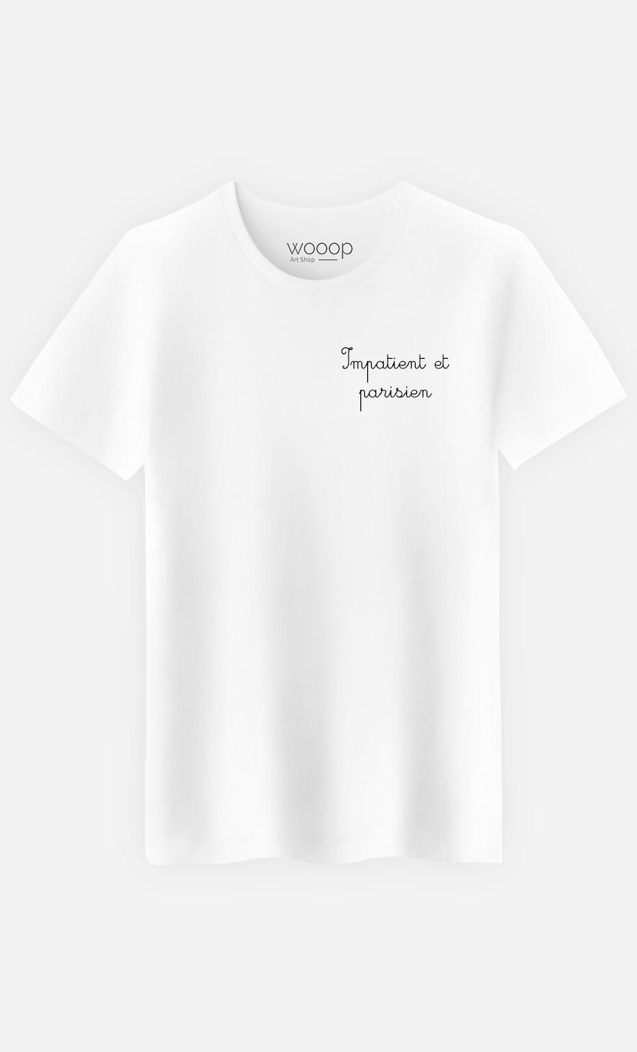 T-Shirt Homme Impatient et Parisien - Brodé
