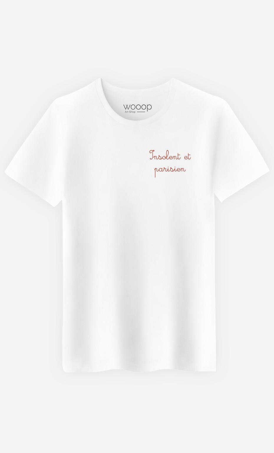 T-Shirt Insolent et Parisien - Brodé