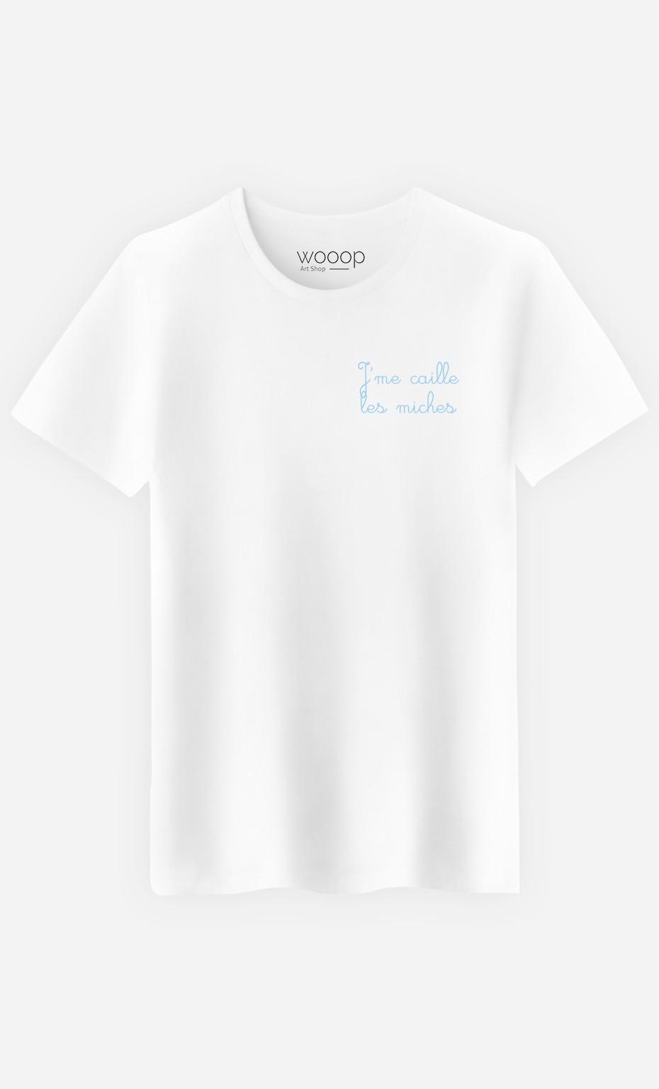 T-Shirt Homme J'me Caille les Miches - Brodé