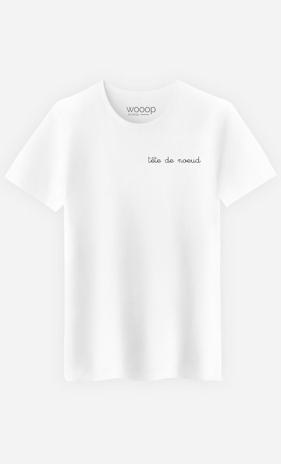 T-Shirt Homme Tête de Nœud - Brodé