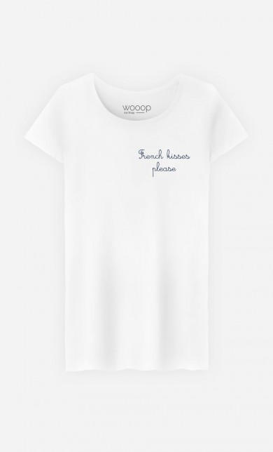 T-Shirt French Kisses Please - Brodé