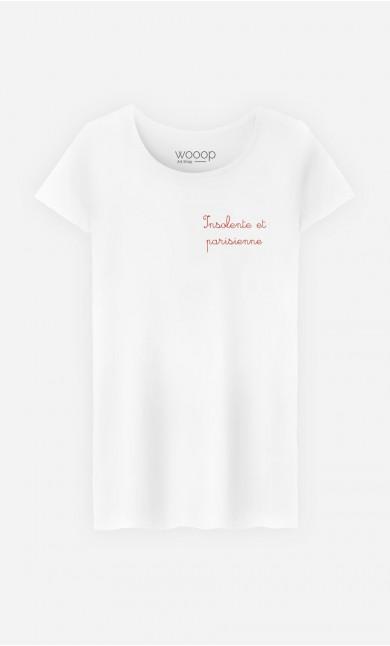 T-Shirt Femme Insolente et Parisienne - Brodé