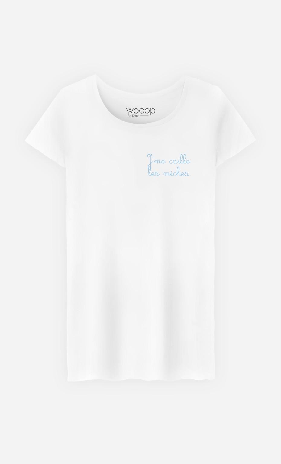 T-Shirt J'me Caille Les Miches - Brodé