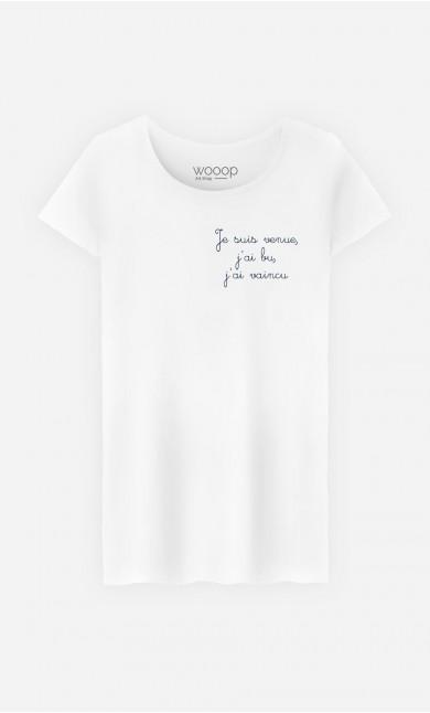 T-Shirt Femme Je Suis Venue - Brodé