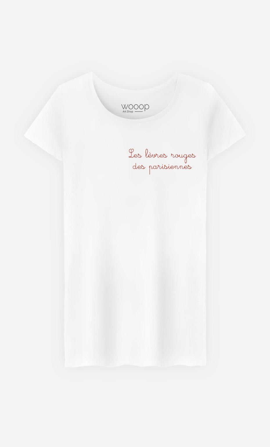 T-Shirt Femme Les Lèvres Rouges - Brodé