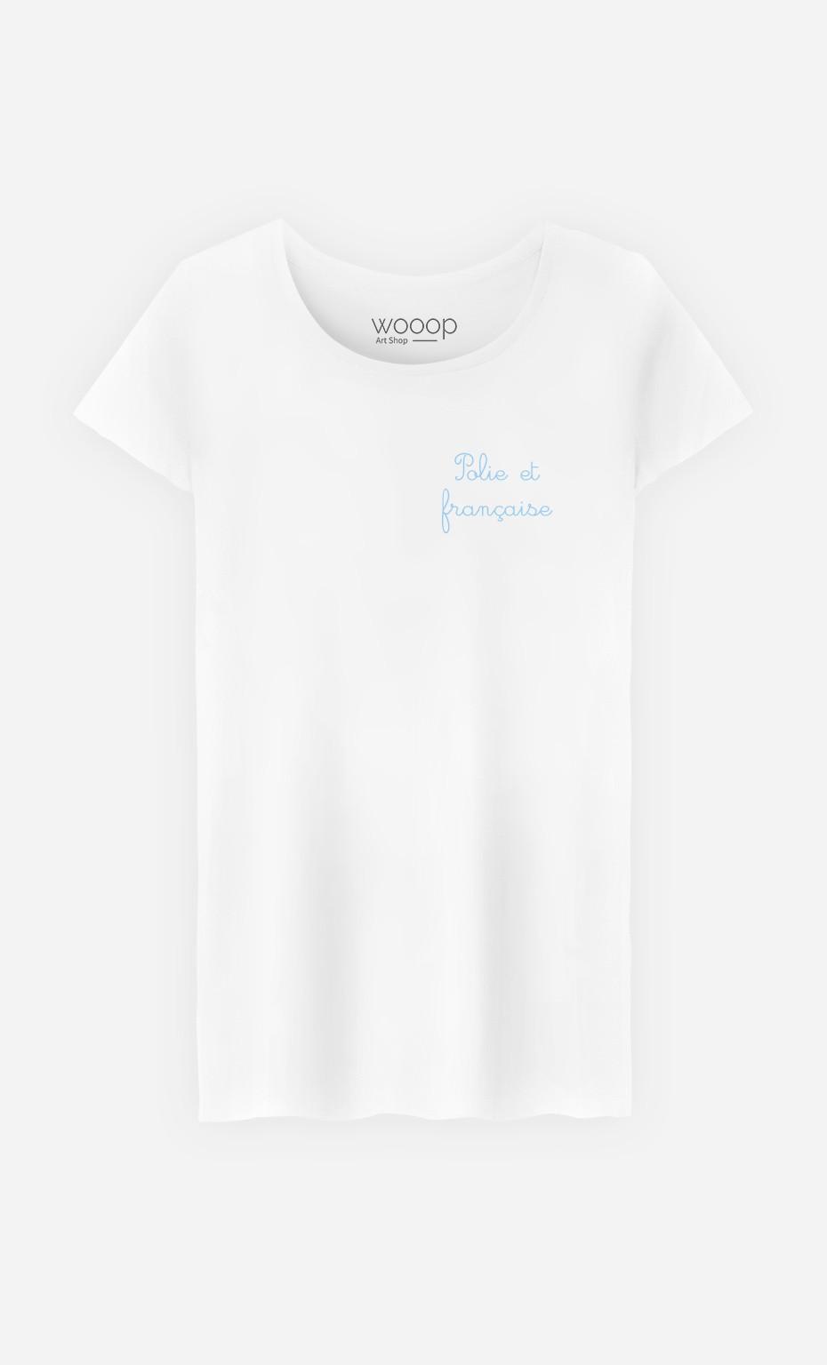 T-Shirt Femme Polie et Française - Brodé