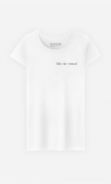 T-Shirt Femme Tête de Nœud - Brodé