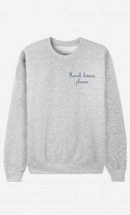 Sweat Femme French Kisses Please - Brodé