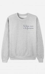 Sweat Femme Baise-Main à la Française - Brodé
