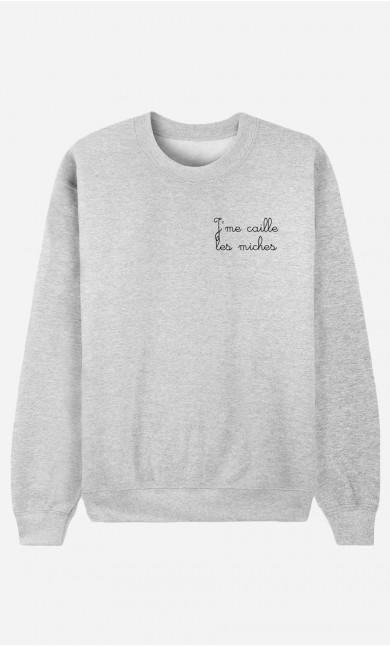Sweat J'me Caille Les Miches - Brodé