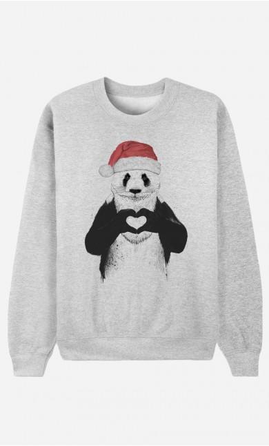 Sweat Homme Santa Panda