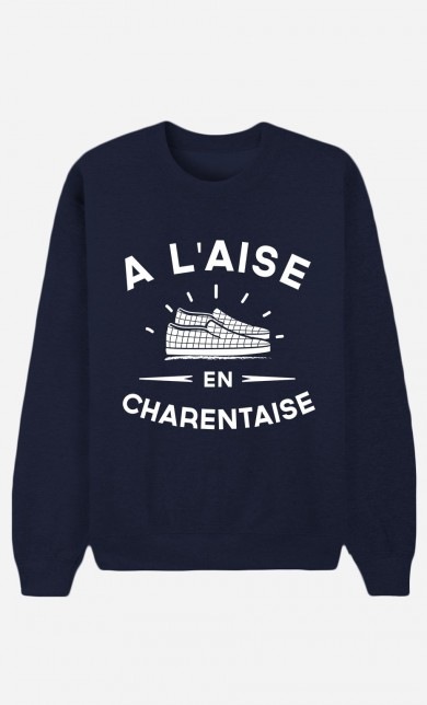 Sweat Bleu A L'Aise en Charentaise