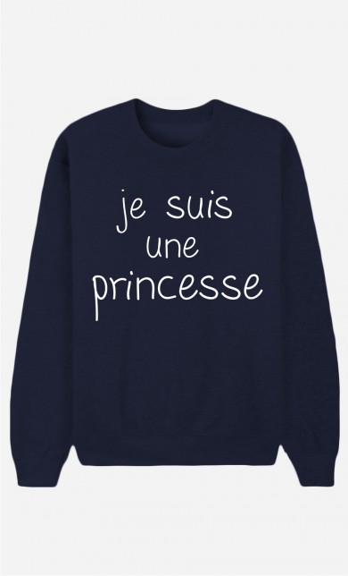 Sweat Bleu Je Suis Une Princesse