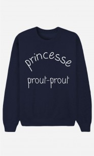 Sweat Bleu Princesse Prout Prout