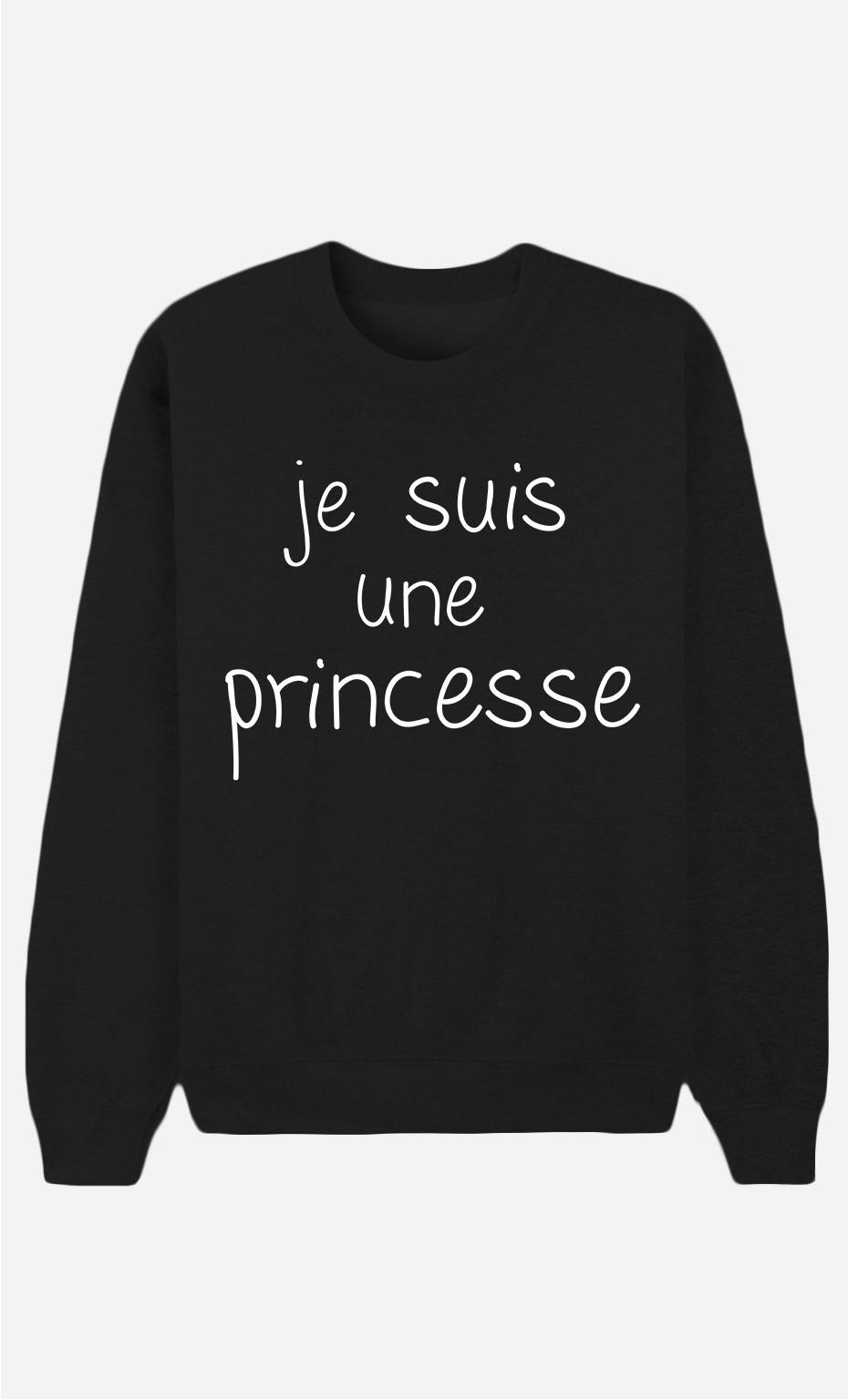 Sweat Noir Je Suis Une Princesse
