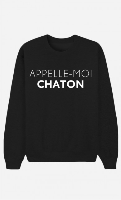 Black Sweater Appelle-Moi Chaton