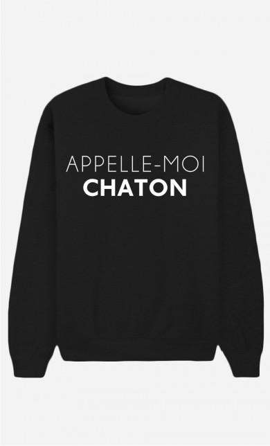 Sweat Noir Appelle-Moi Chaton