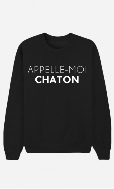 Sweat Noir Appelle-Moi Chaton