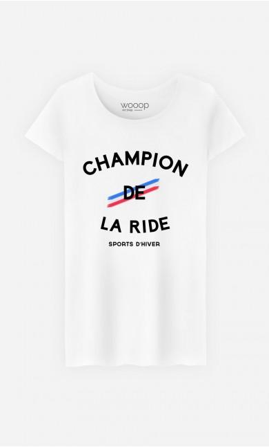 T-Shirt Femme Champion de la Ride