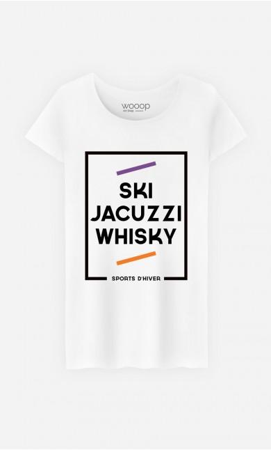 T-Shirt Femme Ski Jacuzzi Whisky