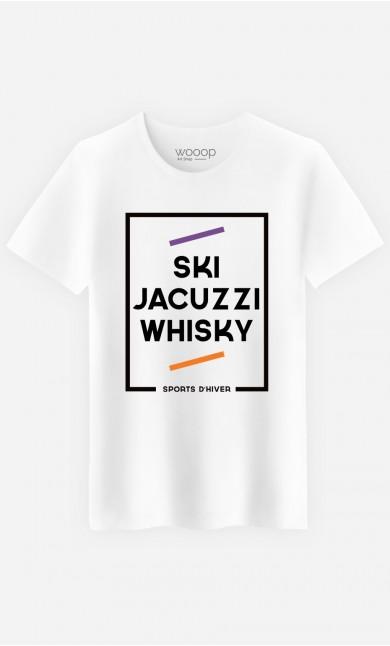 T-Shirt Homme Ski Jacuzzi Whisky