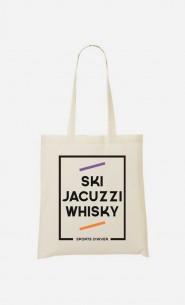 Tote Bag Ski Jacuzzi Whisky