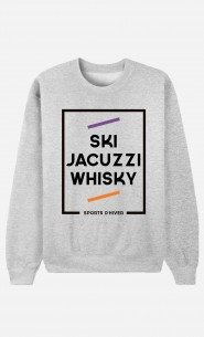 Sweat Homme Ski Jacuzzi Whisky