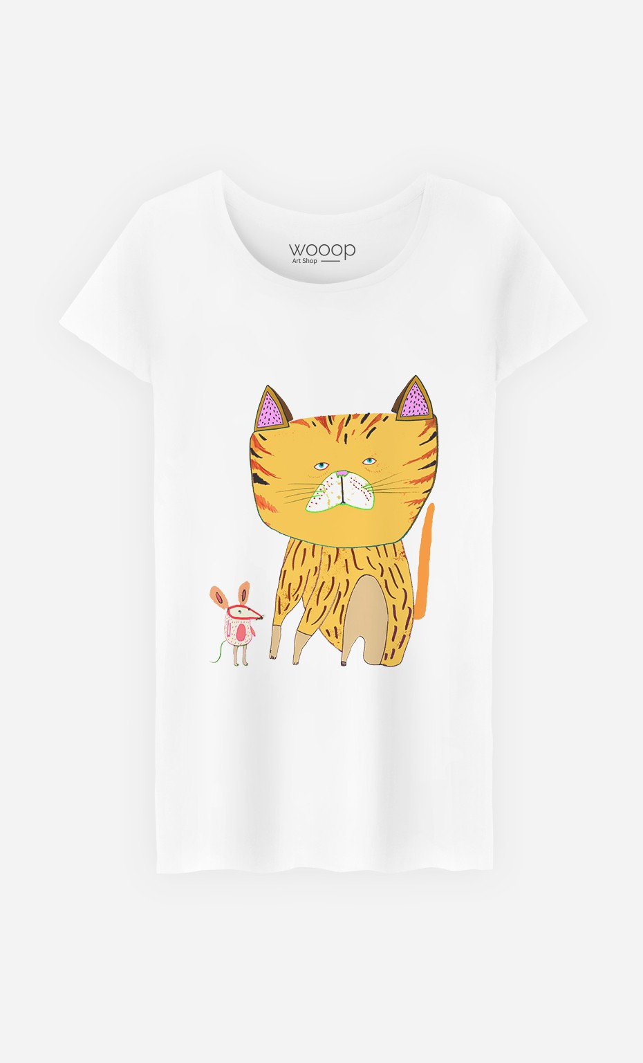 T-Shirt Femme Cat And Mouse