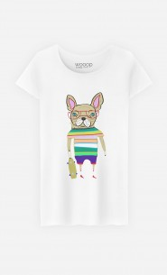 T-Shirt French Bulldog Skater
