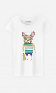 T-Shirt Femme French Bulldog Skater
