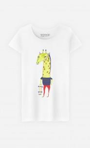 T-Shirt Femme Giraffe Dude