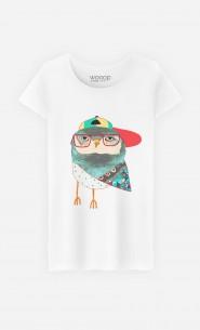 T-Shirt Femme Hip Owl