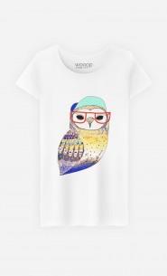 T-Shirt Femme Hipster Owl