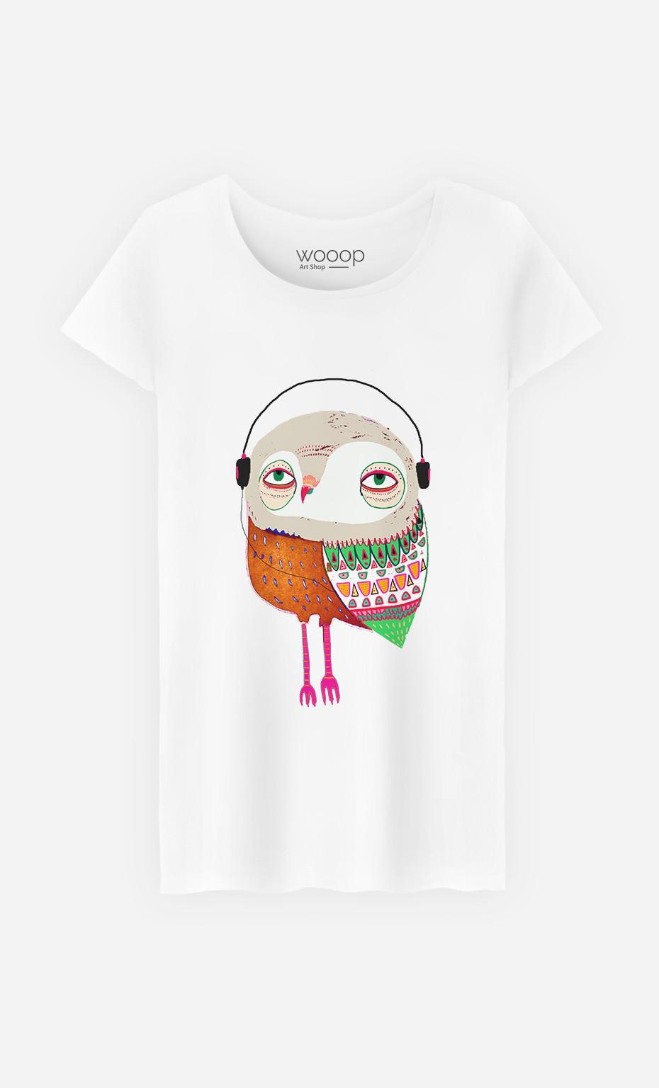 T-Shirt Owl Headphones
