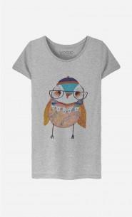 T-Shirt Femme Bobble Hat Owl