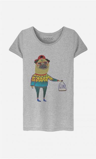 T-Shirt Femme Gin Pug