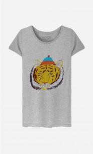 T-Shirt Femme Tiger Head