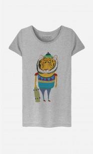 T-Shirt Femme Tiger Skater