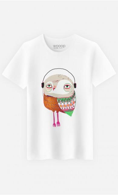 T-Shirt Homme Owl Headphones
