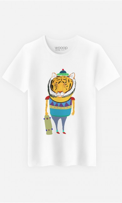 T-Shirt Homme Tiger Skater