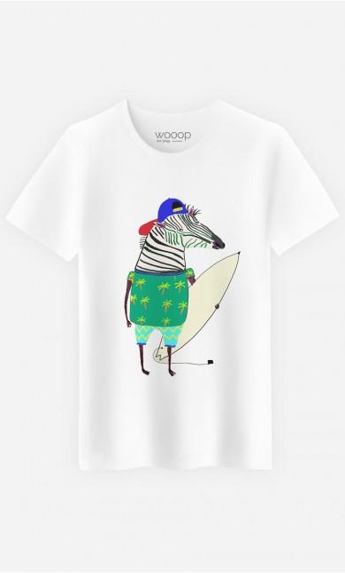 T-Shirt Homme Zebra Surfer