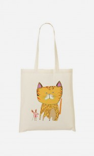 Tote Bag Cat And Mouse