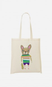 Tote Bag French Bulldog Skater