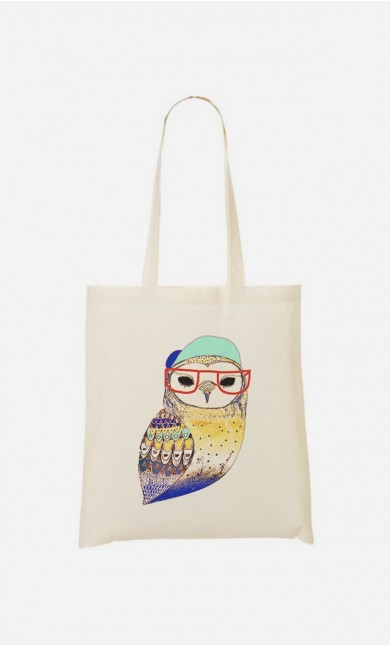 Tote Bag Hipster Owl