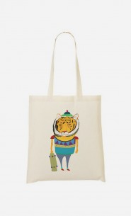 Tote Bag Tiger Skater