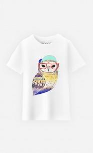 T-Shirt Enfant Hipster Owl